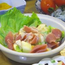 *【夕食一例】チェリー入りのマカロニ。