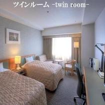 ツインルーム【25.89㎡】/ベッドサイズ【122×200㎝】