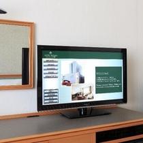 全室VOD搭載32型テレビを完備/VODは毎月更新で200タイトル以上の番組を配信