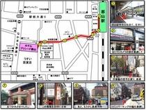 【郡山駅→プリシード】歩きMAP