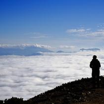 白馬山麓絶景ツアーでの雲海