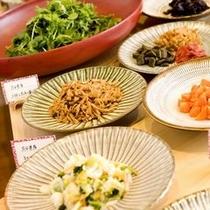 【朝食】日替わりの漬け物ビュッフェ