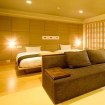 【特別室】竹細工をインテリアに使用し、おしゃれさもありながら落ち着いた雰囲気。