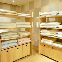 心地良くお休みいただけるよう約16種類の枕をご用意しています。