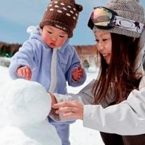 【冬】こどもと雪だるま