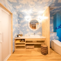 H29年4月新規オープン客室【湊(みなと)】バス・トイレ・洗面所