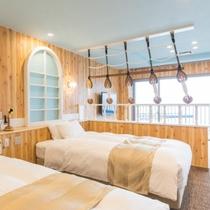 H29年4月新規オープン客室【湊(みなと)】ベッド1