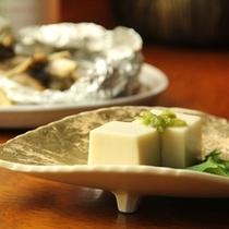 夕食-ごま豆腐
