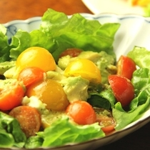夕食-たっぷり野菜サラダ