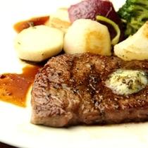 夕食-ステーキ