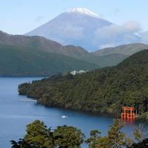 *芦ノ湖と富士山