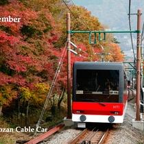 *箱根の秋~紅葉の中を走る登山鉄道