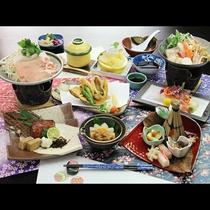 【冬 ご夕食一例】深雪豚の陶板焼きと新潟の味覚