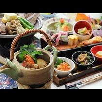 【秋 ご夕食一例】和牛陶板焼きと松茸料理