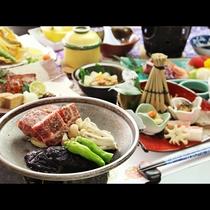 【冬 ご夕食一例】和牛の陶板焼きと新潟の味覚