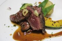 フレンチコース一例 国産ハラミのステーキ