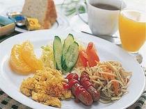 高原の朝、爽やかな朝食