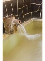■古代檜風呂の湯口