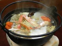 ★食欲そそる香り♪海鮮たっぷり鍋(一人用)♪カニ・エビ・ホタテ・白身魚etc