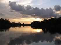 蓼科湖(夕日)