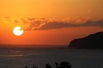 千尋岬と夕日2