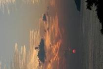 千尋岬と夕日3