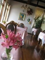 レストランと花