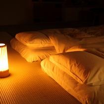 【寝具】ぐっすりとお休みいただけるようこだわった寝具。