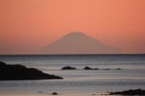 お部屋から見る絶景の富士山