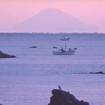 客室から見る富士山