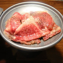 追加 牛鉄板焼き 通常肉