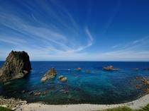 島武意海岸全景