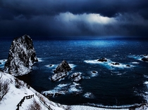 冬の島武意海岸