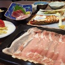*【夕食例】ガッツリ派も満足のボリューム満点のお食事。