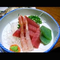 夕食のお刺身(一例)