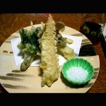 夕食の天ぷら(一例)