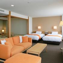【部屋】和室スペース8畳のスイートルーム