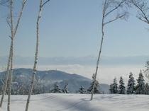 飯綱高原 冬景色