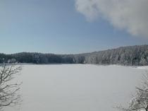 飯綱高原 冬の大座法師池