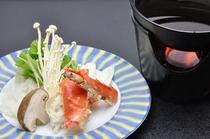 蟹鍋会席 タラバガニの鍋