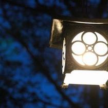 陶器の露天風呂付き客室の灯篭です♪夜は雰囲気GOOD