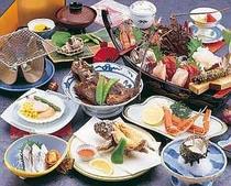 3. 漁師宿ならではの新鮮な海の幸満載 プラン料理(一例)