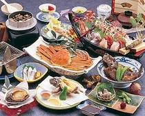 2. 漁師宿ならではの新鮮海の幸が満載 プラン料理(一例)