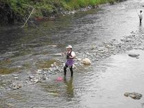 千種川の渓流釣り