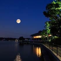 【浮見堂より】舘山寺は観月の名所