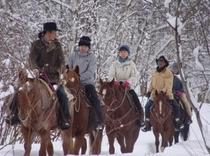 冬季乗馬体験
