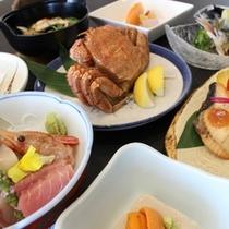 豊漁御膳料理イメージ【毛蟹一人半身付】