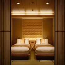 17.5TW露天風呂付富士山 ベッドルーム