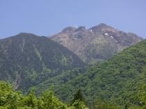 当館から眺めた焼岳
