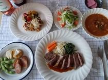 夕食 フルコース